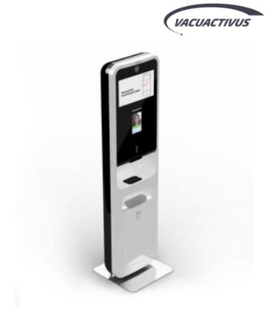 Statie portabila dezinfectare maini si masurare temperatura VACUACTIVUS Sanetiq